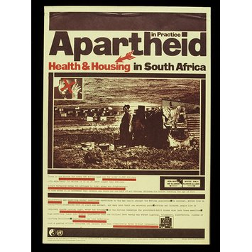 Poster - Apartheid in Practice: Health and Housing