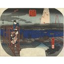 Distant View of Fireworks at Ryogoku; Famous Places in the Eastern Capital (Woodblock print)