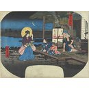 The Legend of the Stone Pillar of Ubagaike Pond at Asakusa; A Compendium of Historical Sites in Edo (Woodblock print)