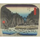 View of Tonosawa; A Tour of the Seven Hot Springs of Hakone (Woodblock print)