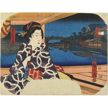 Woodblock print - Star Festival at Yanagishima