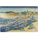 Fuji from Kanaya on the Tokaido Highway; Thirty-six Views of Mount Fuji; Thirty-Six Views of Mount Fuji (Woodblock print)