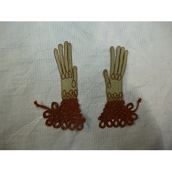 Pair of toy gloves