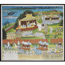 The departure of King Thibaw from Mandalay (Painting)