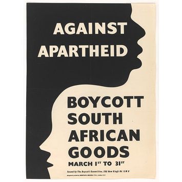 Against Apartheid. Boycott South African Goods (Poster)