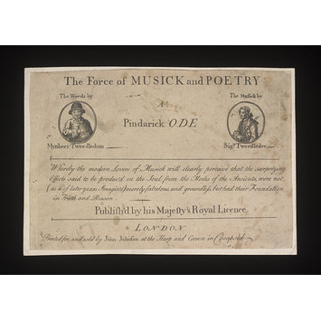 Print - The Force of MUSICK and POETRY/A/Pindarick ODE