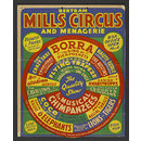 Hanging card advertising Bertram Mills' Tenting Circus, 1954 (Poster)