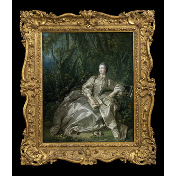 Oil painting - Madame de Pompadour, Mistress of Louis XV