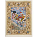 Krishna and Indra (Painting)