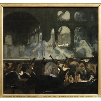 Oil painting - The Ballet Scene from Meyerbeer's Opera <i>Robert Le Diable</i>