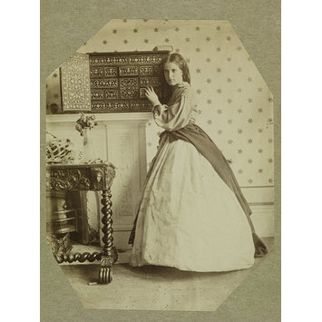 Photograph - Clementina Maude beside cabinet, 5 Princes Gardens; Photographic Study