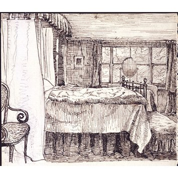 drawing - Bedroom. Camfield Place. Hatfield. Herts.