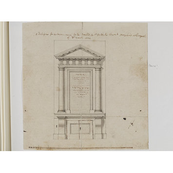 Design - A designe for a monument to be erected in St Patrick's Church prepared at the request of Dr Worth 1732