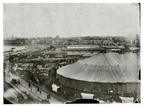 Sanger's Circus big top, around 1900
