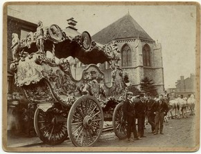 Sanger's Circus carriage, late 19th century, Museum no. RP 81/2354