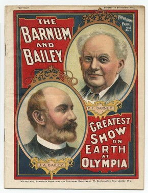 Printed programme, Barnum and Bailey's Circus, 1898