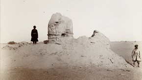 Miran stupa, Sir Marc Aurel Stein, 1907. Photo 392/27(156), &#169; The British Library Board