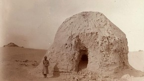 Miran stupa ruin, Sir Marc Aurel Stein, 1907. Photo 392/26(256), &#169; The British Library Board