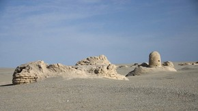 View of Miran from west, Victoria Swift, 2008. Photo 1187/2(150), © International Dunhuang Project
