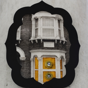 Collage constructed from a photograph of a house near Green Street, London E7