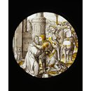 Saint George taking leave of the King of Selene (Roundel)