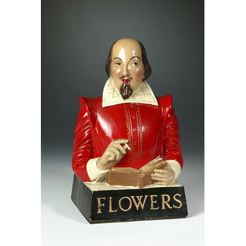 Bust - Bust of Shakespeare, produced to advertise Flowers Ales