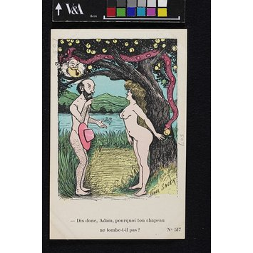Postcard - Adam and Eve