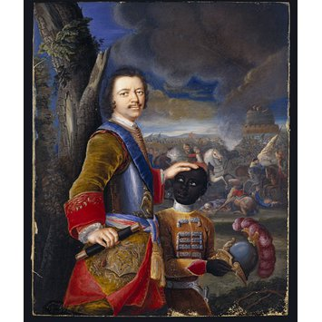 Miniature - Peter the Great with a Black Page