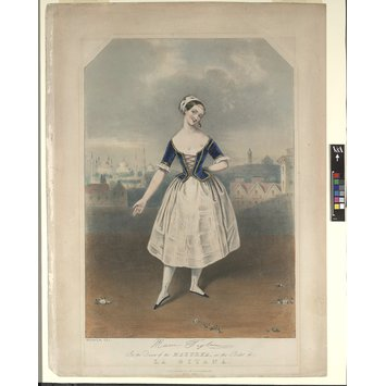 Print - Marie Taglioni (facsimile signature) / In the Dance of the Mazurka, in the Ballet of / La Gitana.