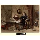 Charles I and his Secretary (Watercolour)