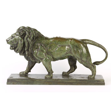 Statuette - Walking lion