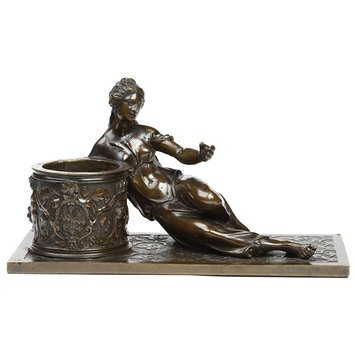 Inkstand - Inkstand with a reclining woman