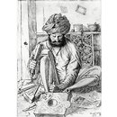 A wood carver (Drawing)