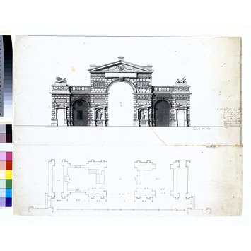 Drawing - Triumphal Gateway at Hyde Park Corner
