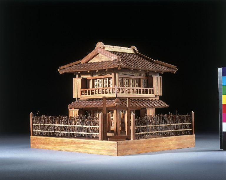 Model Of A Japanese House; Enlarge Image