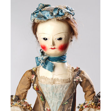 Doll with dress and accessories