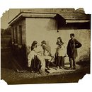 Florence Elizabeth Maude, Cornwallis Hawarden, Clementina Maude and unidentified man, Togge House, Dundrum (Photograph)