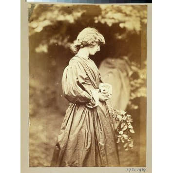 Photograph - Jane Morris, posed by Rossetti