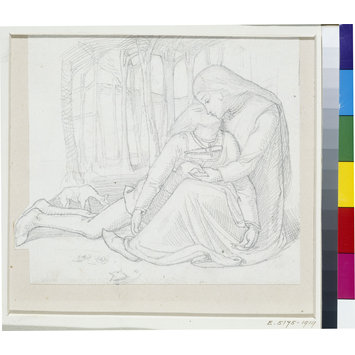 Drawing - Saint Margaret of Cortona and her Dead Lover