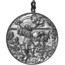 The Crucifixion and the Sacrifice of Isaac (Medal)