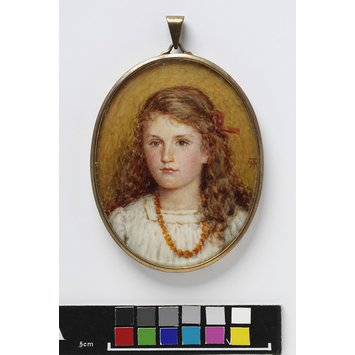 Portrait miniature - An Unknown girl