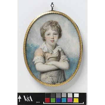 Portrait miniature - Unknown boy, perhaps Sir Frederick Augustus D'Este (1794-1848)