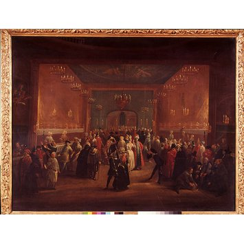 Painting - A Masquerade at the King's Theatre, Haymarket