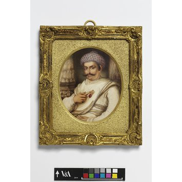 Miniature - Portrait of Hyder Beg Khan, the Minister to the Nawab of A Wadh, Asaf-Au-Daula
