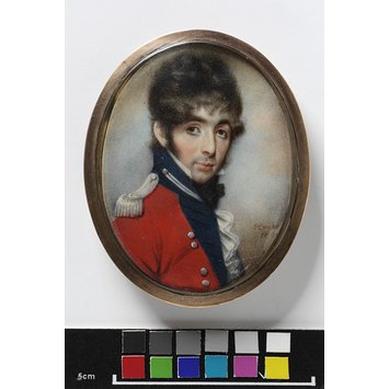 Portrait miniature - An Unknown officer