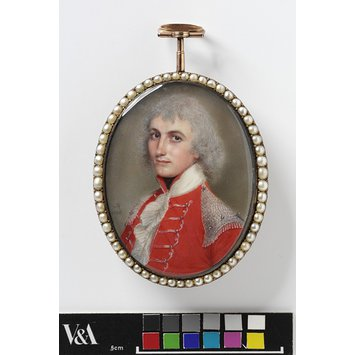Portrait miniature - An unknown officer, called Thomas Nuttall