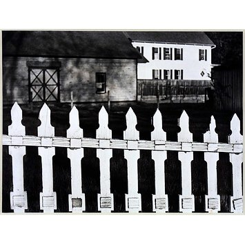 Photograph - The White Fence, Port Kent, New York