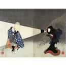 The Kabuki Actors Iwai Shijaku I and Bando Jutaro (Woodblock print)