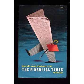 Poster - Men who mean business read The Financial Times every day