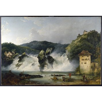 Oil painting - The Falls of the Rhine at Schaffhausen